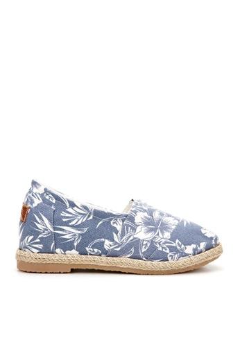 KissXXX blue 5cm insole Hibiscus Espadrilles Loafer KI688SH2VN3ZHK_1