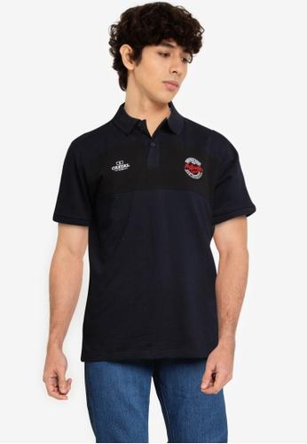 Fidelio navy Contrasted Block Embroidery Polo Shirt C18BBAA5EBC787GS_1