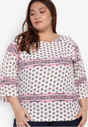 2b490ba3cd877 Shop Maldita X Plus Size Boho Chic Blouse Online on ZALORA Philippines