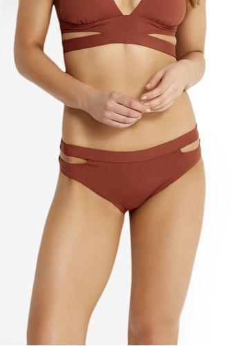 Seafolly red Active Split Band Hipster Bikini Bottom A8DB1USBC9590CGS_1
