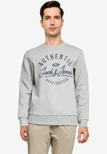 Jack & Jones grey Hero Crew Neck Sweatshirt 3F975AAF4DFB98GS_1