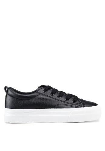 Twenty Eight Shoes 黑色 Basic厚底綁帶運動鞋 31A49SH07804E5GS_1