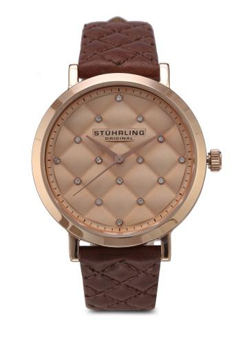 Stuhrling Original pink and brown Audrey Watch AOKWXAC0000080GS_1