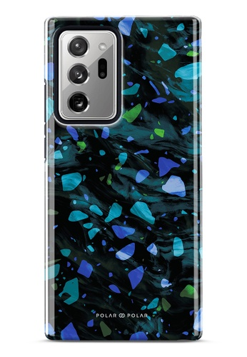 Polar Polar blue Ocean Terrazzo Gem Dual-Layer Tough Case Glossy For Samsung Galaxy Note20 Ultra 5G 783FAAC761EEEDGS_1
