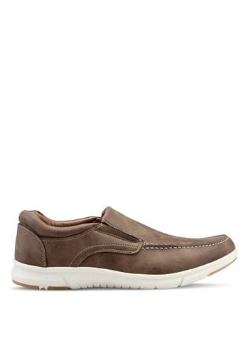 Bata brown Slip On Moccasins 708A6SH21A6A41GS_1