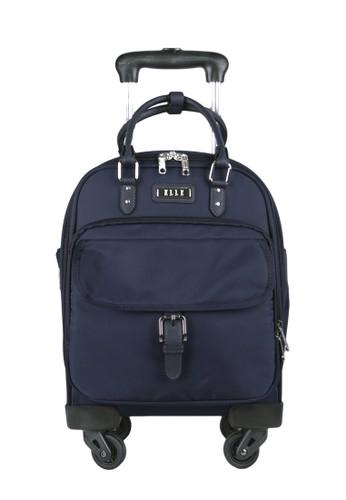 ELLE black Elle Handle Travel Bag 32073 - Navy Blue - 14 Inch 457C4AC73BCD04GS_1