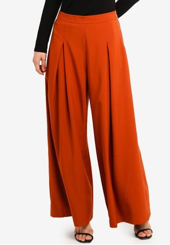 bYSI orange Side Zipper Pleat Trousers 6F26AAADE9EA4FGS_1