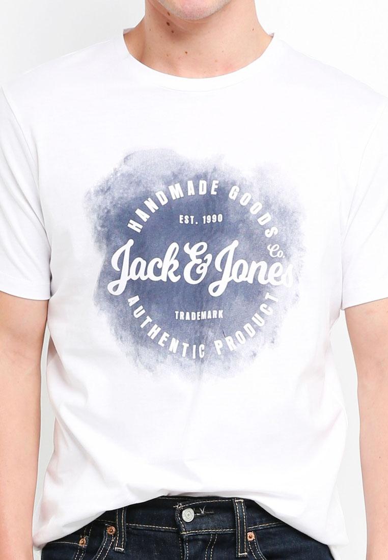 Tee Crew Spray Reg Jack Jones amp; Art Logo Neck White wf7Ex5Iq