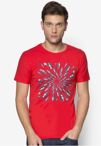閃電圖案設計Tesprit台灣outletEE, 服飾, 印圖T恤