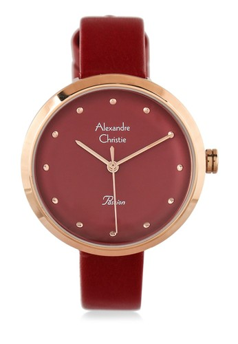 Alexandre Christie red Alexandre Christie Jam Tangan Wanita - Red Rosegold - Leather Strap - 2745 LHLRGRE D132EACE26FAE9GS_1