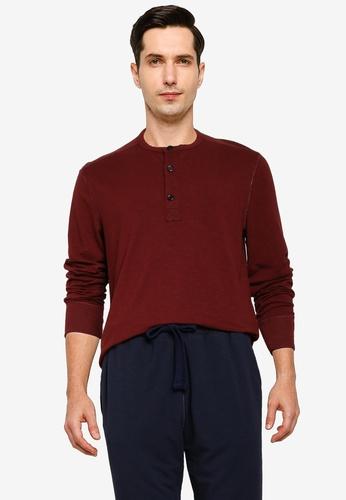 Banana Republic red Brushed Slub Henley T-Shirt 42124AA8188551GS_1