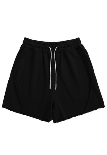 Twenty Eight Shoes black Soft Knitted Sports Shorts 6050GS21 F86BFAA8FB208AGS_1