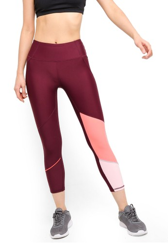 Cotton On Body red and pink Placement Print 7/8 Tights EEF6EAA67A5C66GS_1
