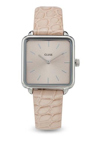 CLUSE 銀色 La Tetragone 銀/Soft Almond Alligator 手錶 F0510AC6648847GS_1