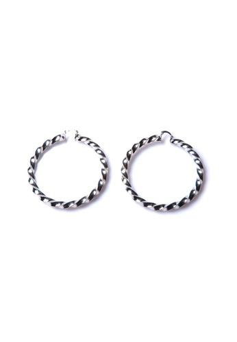 Limkokwing Fashion Club silver Silver Christina Earrings LI086AC19HBCMY_1