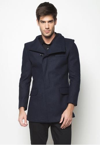 d7f94aad2 Slim Fit Asymmetrical Wool Coat