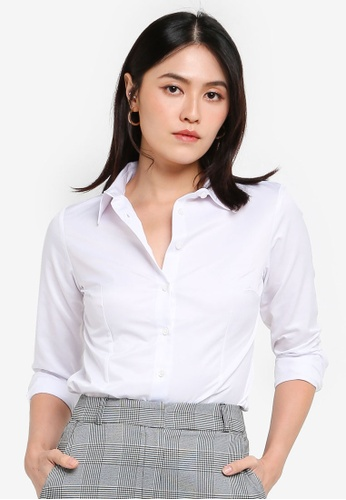 KOTON white Casual Shirt 65042AAECB6E4AGS_1