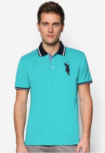 撞色領男裝POLO esprit holdings衫, 服飾, Polo衫
