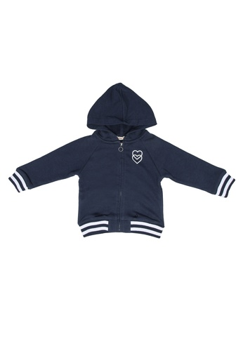 FOX Kids & Baby navy Baby Girl Hoodie Jacket 9E911KAF47EE76GS_1