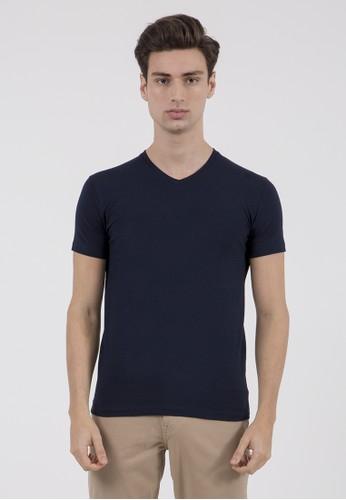 The Executive navy Basic Plain T-Shirt D51D1AAE84E615GS_1