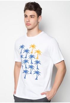 Palm Tree Repeat Print Shirt