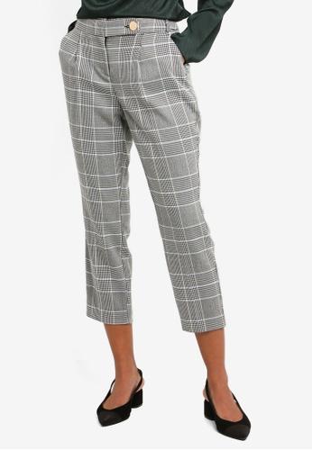 9bac3096d9fce Dorothy Perkins black Petite Checkered High Waist Trousers  C201EAA05D119BGS_1