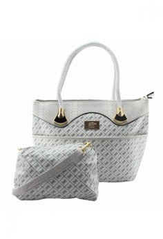 Printed Tote Bag with Sling Bag