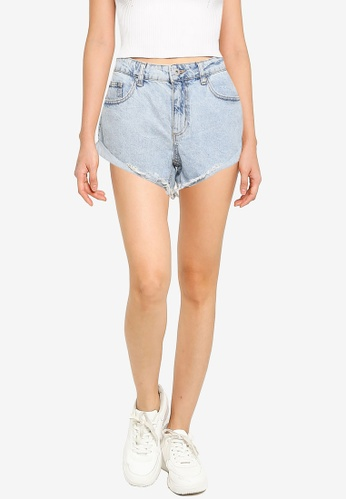 Cotton On blue Mid Relaxed Denim Shorts 3ADC4AAE15D741GS_1