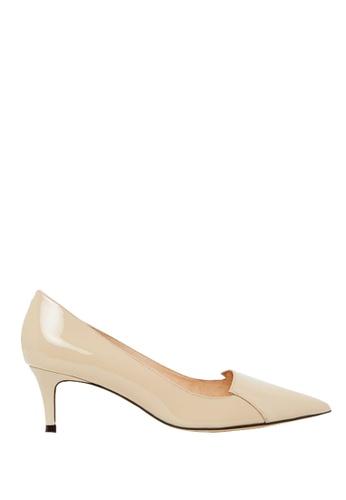 Nina Armando beige Connie Patent Leather Low Heel NI342SH0FV41SG_1