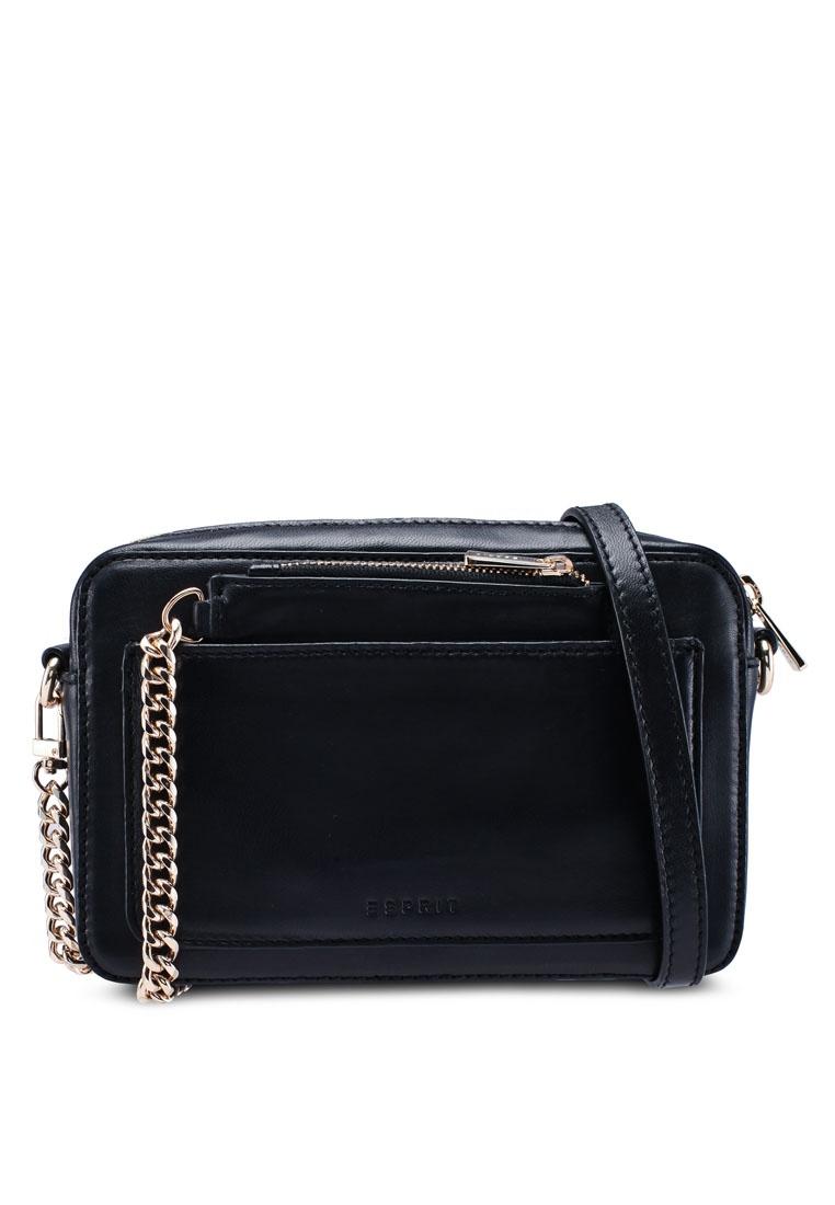 0aa31205e ESPRIT Black Leather Sling Bag Friday Black pET1qwOB & implication ...
