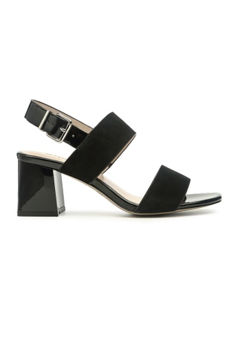 Byford black Plimsoll Ankle Strap Heel Sandals 5C971SHF381EB3GS_1