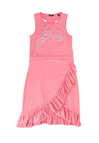 Guess pink Stretch Viscose Sleeveless Dress F6720KADFC9165GS_1