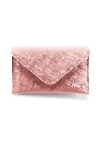 Crudo Leather Craft pink Senz'altro Name Card Holder - Saffiano Pink 29BABAC0E52CF3GS_1