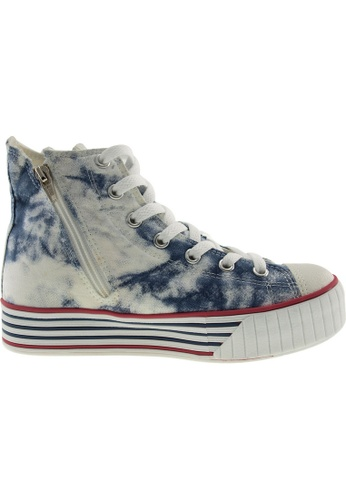 Maxstar blue and multi Maxstar Women's C30 7 Holes Zipper Canvas High Top Platform Sneakers US Women Size MA164SH46PORSG_1