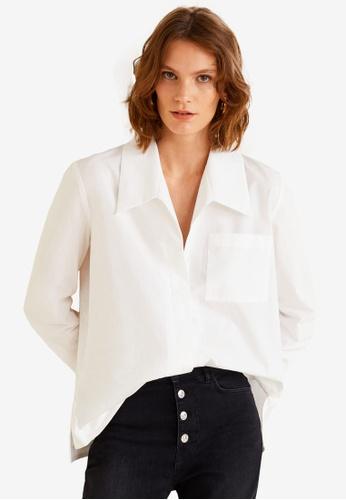 Mango white Oversize Organic Cotton Shirt A739CAA3728332GS_1