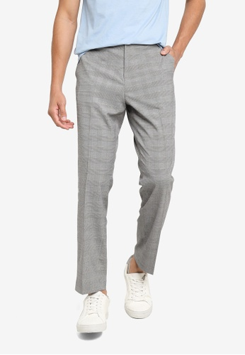 H&M black and multi Slim Fit Cigarette Trousers 1A626AAA5AA604GS_1