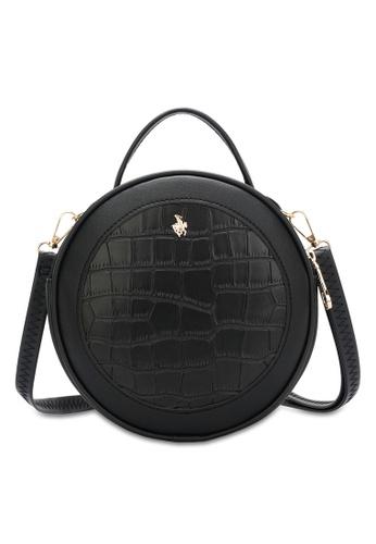 Swiss Polo black Logo Sling Bag 46B1BAC7503E86GS_1