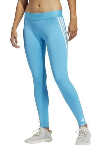 ADIDAS blue alphaskin sport 3 stripe long tights 16408AA22D5C28GS_1
