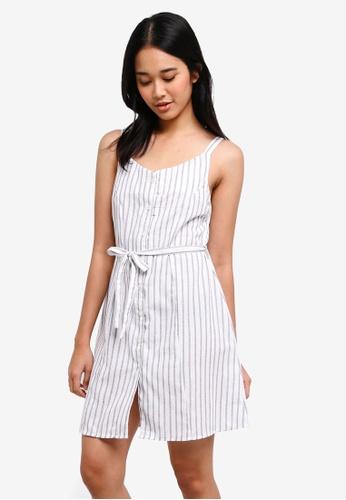 Penshoppe white Regular Length Straight Dress AEF43AA8EA0931GS_1