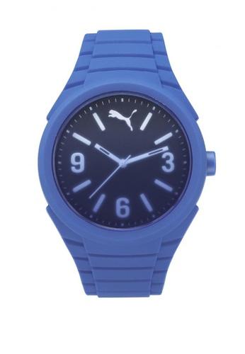 Puma blue Puma Gumm casey Blue Silicon Rubber Watch PU440AC72CWDSG_1