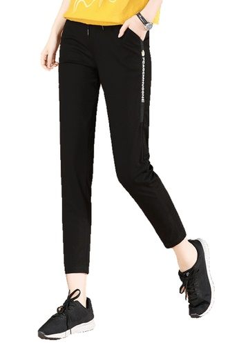 A-IN GIRLS black Black Casual Pants With Elastic Waist 7AF34AA0045F05GS_1