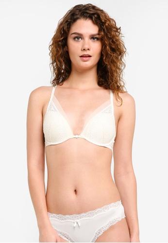 6ece7e9d7a02b Calvin Klein white Plunge Push Up Bra - Calvin Klein Underwear  CA221US0RPAIMY 1