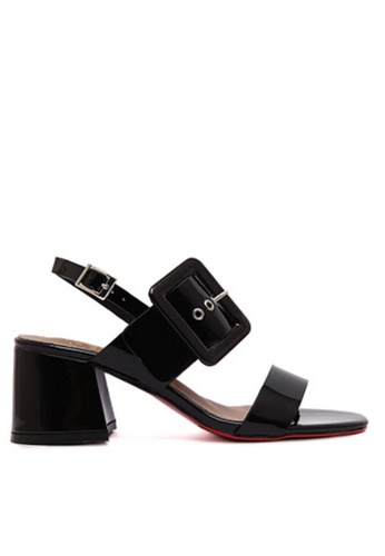 Twenty Eight Shoes black MC Buckle Patern sandal TW446SH94DYRHK_1
