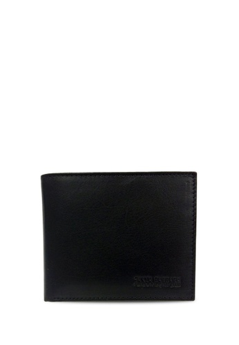 Santa Barbara Polo & Racquet Club black Santa Barbara Polo & Racquet Club Leather Bifold Wallet SA678AC0H8YSSG_1