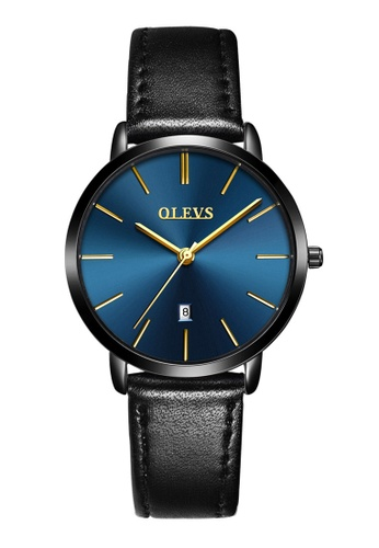 OLEVS multi Olevs Ultra Light Women Calendar Leather Quartz Watch 930F1AC6C0FB44GS_1
