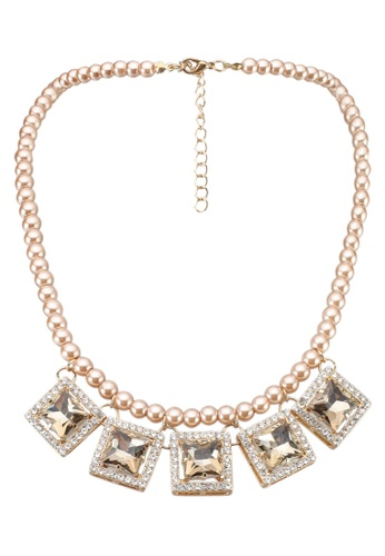 Red's Revenge brown Yellow Gems Pearl Necklace 2FCE0AC884D0D5GS_1
