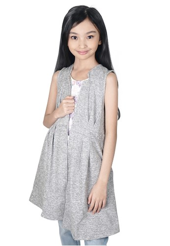 KIDS ICON KIDS ICON - Vest Anak Perempuan 8-14 Tahun Curly With Armhole Sleeve - LYV00300200 08B0FKA5B2D581GS_1