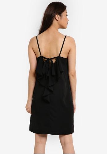 ZALORA black Ribbon Back Dress 92983AA4F91309GS_1
