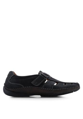 Louis Cuppers black Cut-Out Flat Sandals 4B320SH2CF8C45GS_1