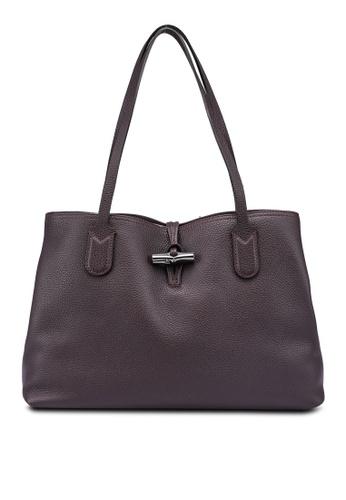 LONGCHAMP purple Roseau Shoulder Bag (zt) E81A7AC5C53903GS_1